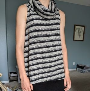{Anthro} Knit Cowl-neck Top, S